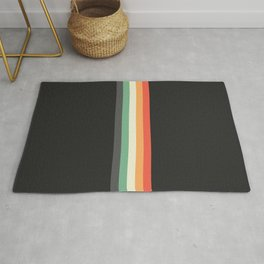 Racing Team Monaco - Minimal Retro Look Stripes Rug