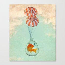parachute goldfish Canvas Print