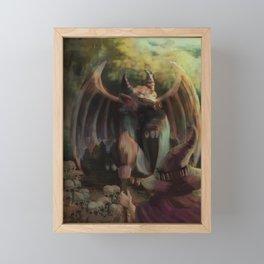 wizard and baphomet Framed Mini Art Print