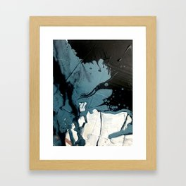 Fortune [5]: A bold, minimal, abstract mixed-media piece in blue and black Gerahmter Kunstdruck