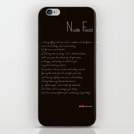 Nude Food iPhone Skin