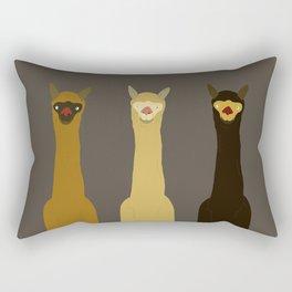 Triple LLAMAS ALPACAS CAMELS - Dark Rectangular Pillow