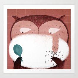 Let's Shave Owl Art Print