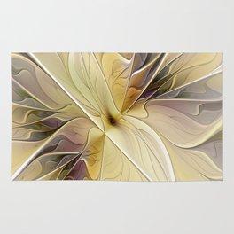 Floral Beauty, Abstract Fractal Art Flower Rug