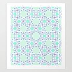 Arabic pattern Art Print