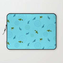 Blue Dolphin and Orca Laptop Sleeve