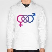 bisexual Hoodies featuring Bisexual by Clara Hollins