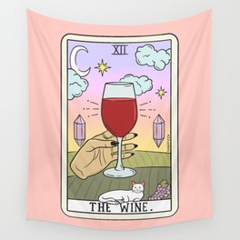 WINE READING (LIGHT) Wall Tapestry