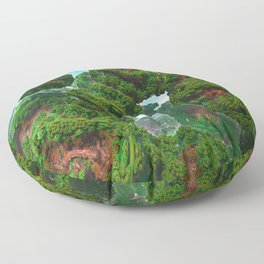 Bacterium Hedgerow Floor Pillow