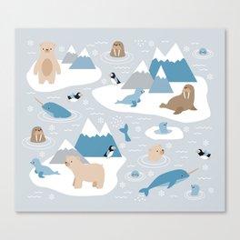 Arctic animals Canvas Print