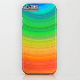 Rainbow Smile Colored Circles Summer Pattern iPhone Case
