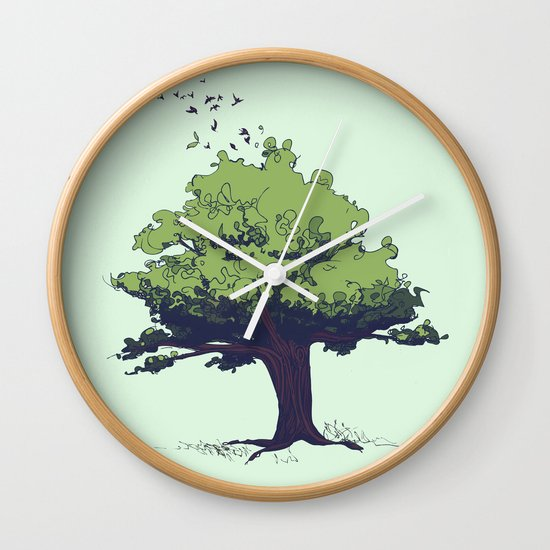 Arbor Vitae - Tree of Life Wall Clock