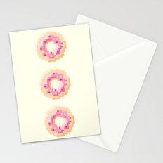 Pixel Donut Stationery Cards