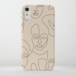 Beauty Portraits In Beige iPhone Case