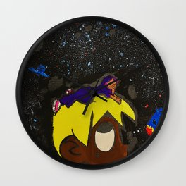 Uzi,painting,mini,small,poster,eternal,album,original,art,artwork,decor,rap,rapper,dope,canvas,cool, Wall Clock