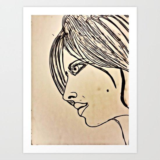 D profilo Art Print