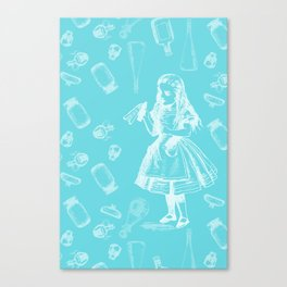 Alice in Wonderland and Jars Canvas Print