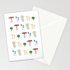 Mushroom Pattern Stationery Cards