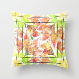 abstract floral background Throw Pillow