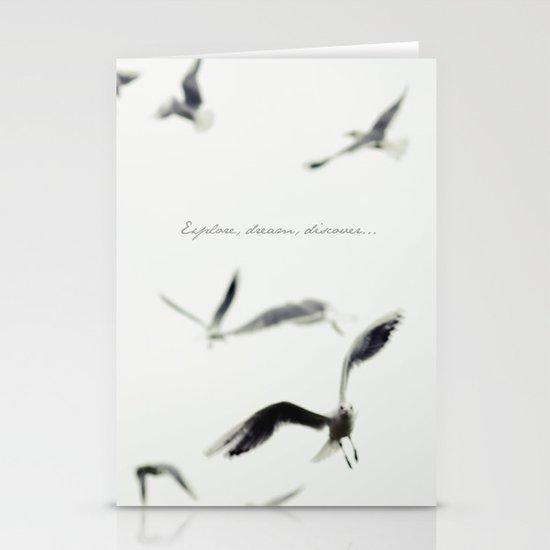 Explore, dream, discover Stationery Cards