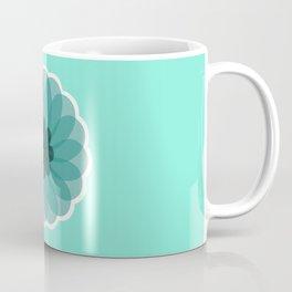 turquoise blue geometrical flower Coffee Mug