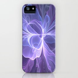 Abstract Art, Purple Fantasy Fractal iPhone Case