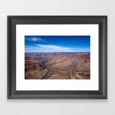 Grand Canyon Afternoon Blue Sky Framed Art Print