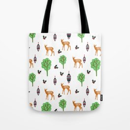 Xmas Deer Pattern Tote Bag