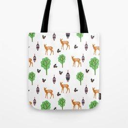 Xmas Deer Pattern Tote Bag