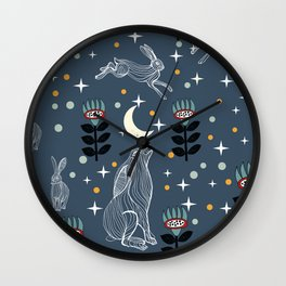 Hare Moon Wall Clock