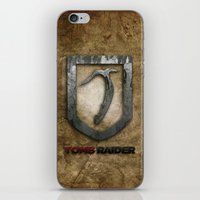 tomb raider iPhone & iPod Skins featuring Tomb Raider by Liquidsugar