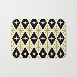 Mid Century Modern Atomic Triangle Pattern 123 Bath Mat