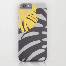 Monstera Black and Yellow iPhone Case