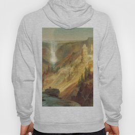 The Grand Canyon Of The Yellowstone 1872 By Thomas Moran | Daylight Watercolor Scenery Reproduction Hoody