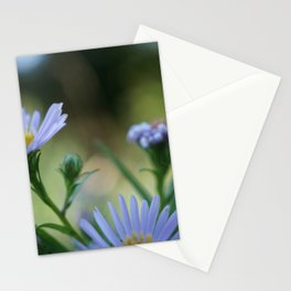 Mircro Blue flowers Stationery Cards