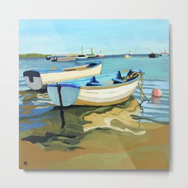 The Blue Boats Metal Print