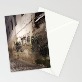Graffiti on old house Stationery Cards