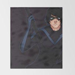 Nightwing Throw Blanket