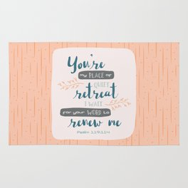 """""""Your Word Renews Me"""" Hand-Lettered Bible Verse Rug"""