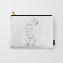 Naked Profile Lines Carry-All Pouch