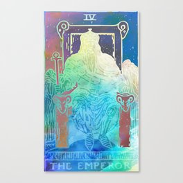 The Emperor - A Soft Watercolor Tarot Print Canvas Print