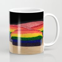 bread Mugs featuring Rainbow Bread by Tracy66