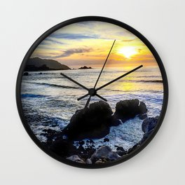 Pacifica Sunset Wall Clock