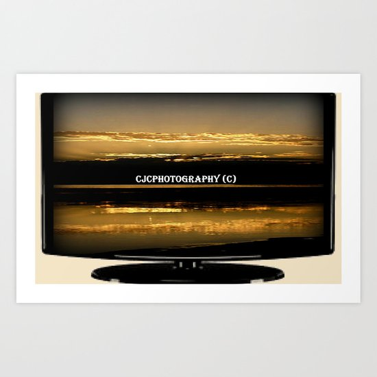 My work on TV Art Print