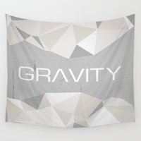 gravity Wall Tapestries featuring Gravity by eARTh