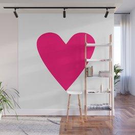 Neon Pink Heart Wall Mural
