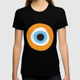 Orange Evil Eye Symbol T-shirt