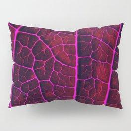 LEAF STRUCTURE RED VIOLET Pillow Sham