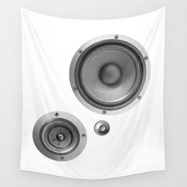 Subwoofer Speaker on white Wall Tapestry