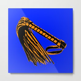 Blue + Orange: Flogger Metal Print